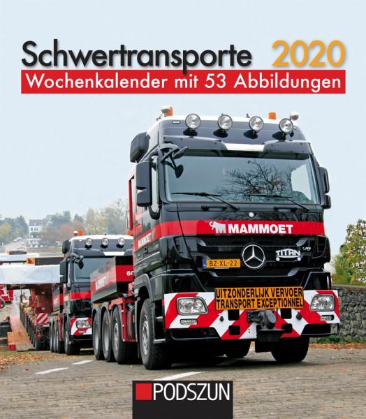 Schwertransporte 2020 Wochenkalender